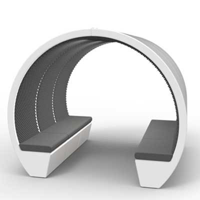6 Person Oval Open Meeting Pod
