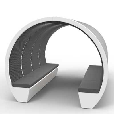 8 Person Oval Open Meeting Pod