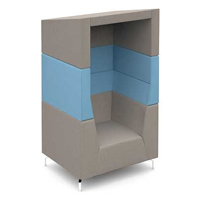 Single Seat Acoustic Booth with Canopy