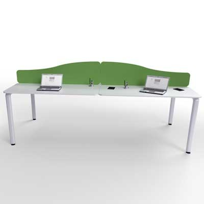 Flite Wave Top Desk Mounted Office Screen with PVC trim 480mm High