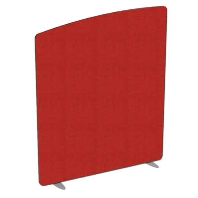 Flite Curved Top Floor standing Office Screen 1800mm high with PVC trim