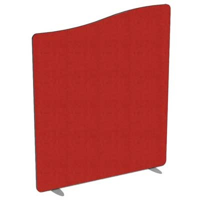Flite Wave Top Floor standing Office Screen 1200mm high with PVC trim