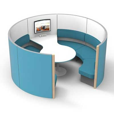 6 Person Group Meeting Pod with Table