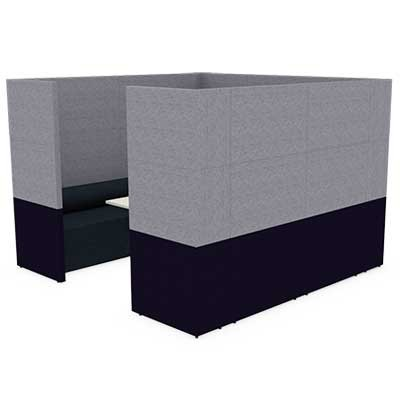 Square Four Person Team Meeting Pod with Seating and Table