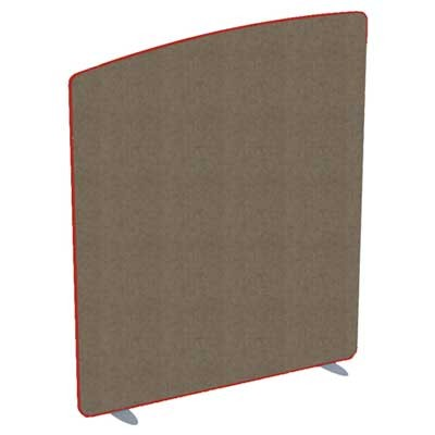 Softline Curved Top Acoustic office screen 1400mm High