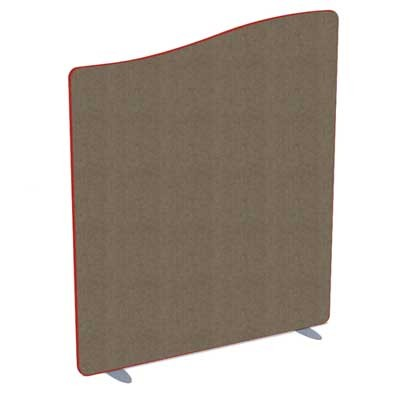 Softline Wave Top Acoustic office screen 1000mm High