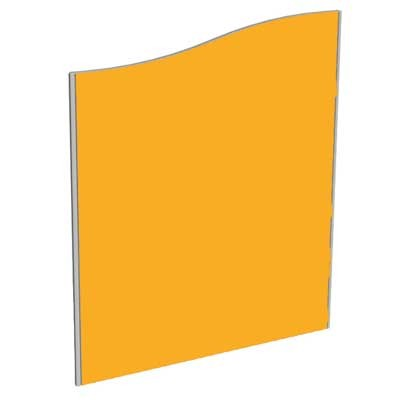 Sprint Aluminium Frame Wave top freestanding office screen 1200mm high