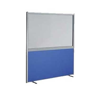 1/2 Glazed Office Screen 1400mm High