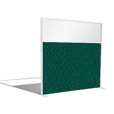 1/3 Glazed Office Screen 1400mm High