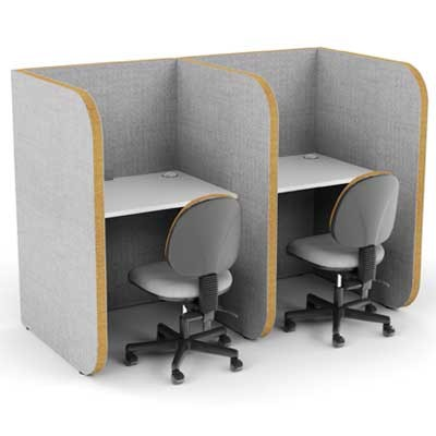 High 2 Person Study Booth