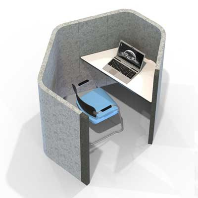 Acoustic small heaxagonal work booth