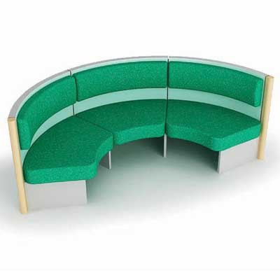 3 Person Ville Seating Booth