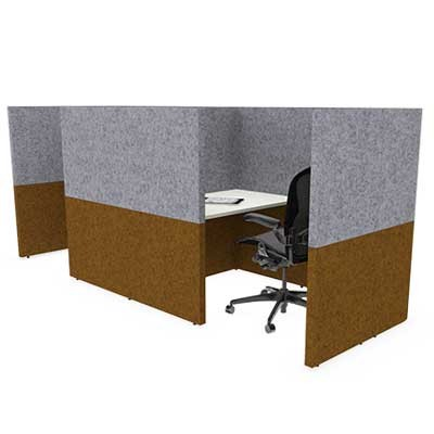 Two Person Large Solo Work Booth