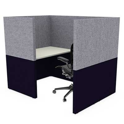 One Person Small Square Solo Work Booth
