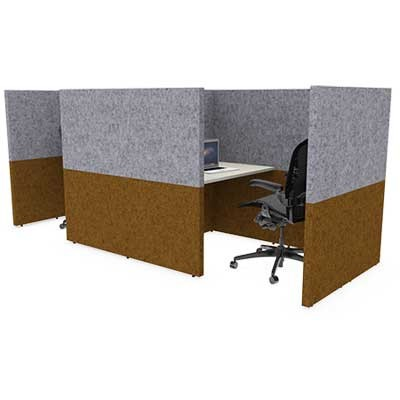 Two Person Square Solo Work Booth