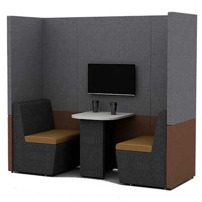 Two Person Work Booth 800mm Deep