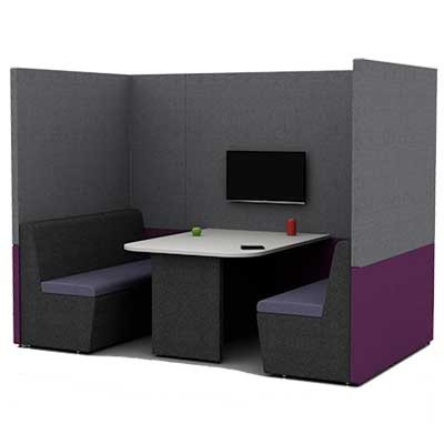 Four Person Work Booth 2500mm Wide