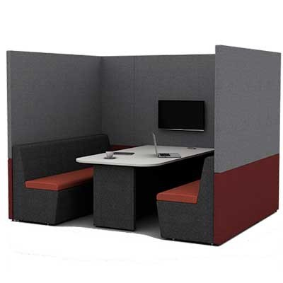 Six Person Work Booth 2500mm Wide