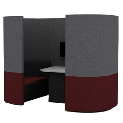 Two Person Curved Work Booth