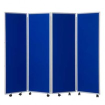 Woolmix Folding Concertina Screen 4 Panels 1500mm high