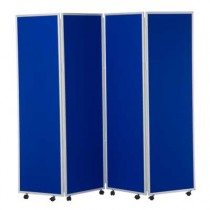 Woolmix Folding Concertina Screen 4 Panels 1800mm high