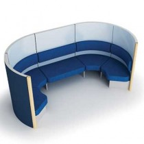 Bretton 6 Person Semi Circular Meeting Pod