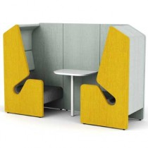 Clip Two Person Work Booth with Table