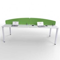 Flite Curved Desk Mounted Office Screen with PVC trim 380mm High