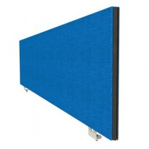 Jump Desk Mounted Straight Top Office Screen in Blue