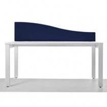 Jump Desk Mounted Wave Top Office Screen in Blue