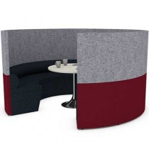 Round Four Person Team Meeting Pod with Seating