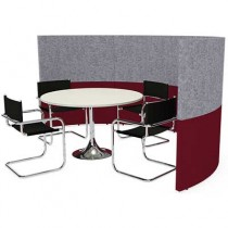 Semi Circular Four Person 3000mm wide Team Meeting Pod
