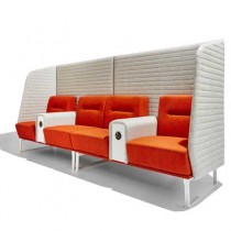 Socialite Acoustic 4 Person Breakout Seating Booth