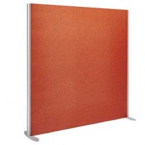 Sprint Aluminium Frame Straight top freestanding office screen 1600mm high