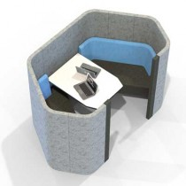 Two Person Hexagonal Acoustic Meeting Booth
