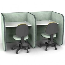 Low 2 Person Study Booth