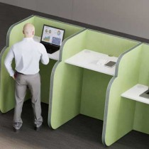 1 Person 1350h Standing Study Booth