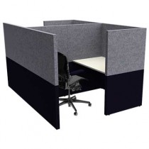 Two Person Large Square Solo Work Booth