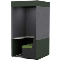 One Person Work Booth 1100mm Deep with Roof