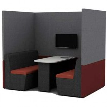 Four Person Work Booth 1500mm Deep