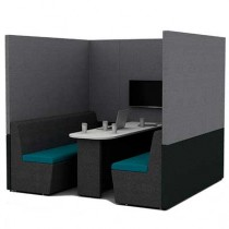 Six Person Work Booth 2000mm Deep