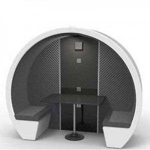 Acoustic 2 Person Meeting Pod with Lighting and table