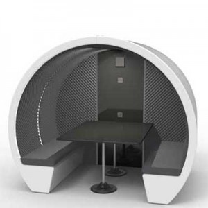 Acoustic 4 Person Meeting Pod with Lighting and table