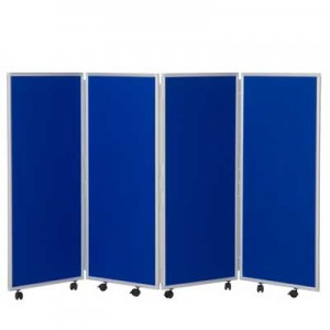 Woolmix Folding Concertina Screen 4 Panels 1200mm high