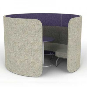 Cocoon Low Open Meeting Pod with Seating and Table