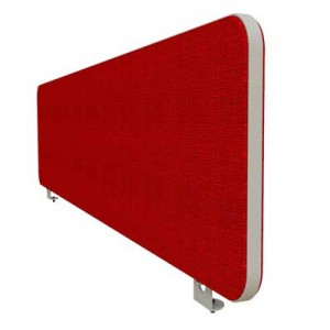 Flite Desk Mounted Office Screen with PVC trim 380mm High
