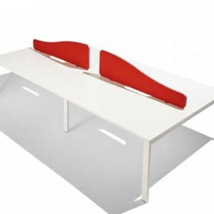 Flite Wave Top Desk Mounted Office Screen with PVC trim 380mm High