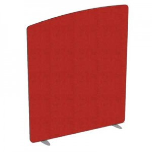 Flite Curved Top Floor standing Office Screen 1100mm high with PVC trim