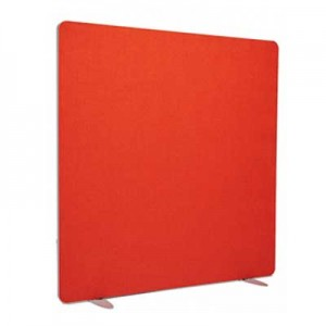 Flite Rectangular Floor standing Office Screen 1600mm high with PVC trim