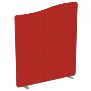 Flite Wave Top Floor standing Office Screen 1000mm high with PVC trim